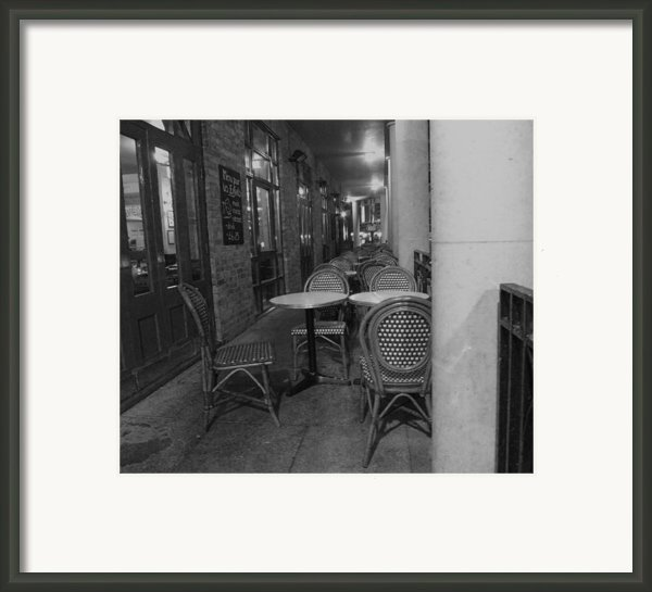 Cafe Rouge Framed Print By Anna Villarreal Garbis