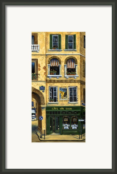 Cafe Van Gogh Paris Framed Print By Marilyn Dunlap