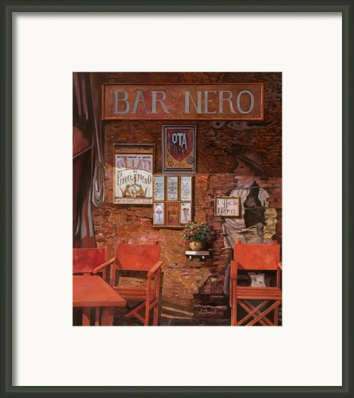 Caffe Nero Framed Print By Guido Borelli