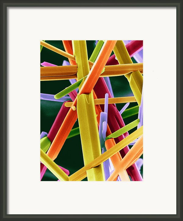 Caffeine Crystals, Sem Framed Print By Dr Jeremy Burgess