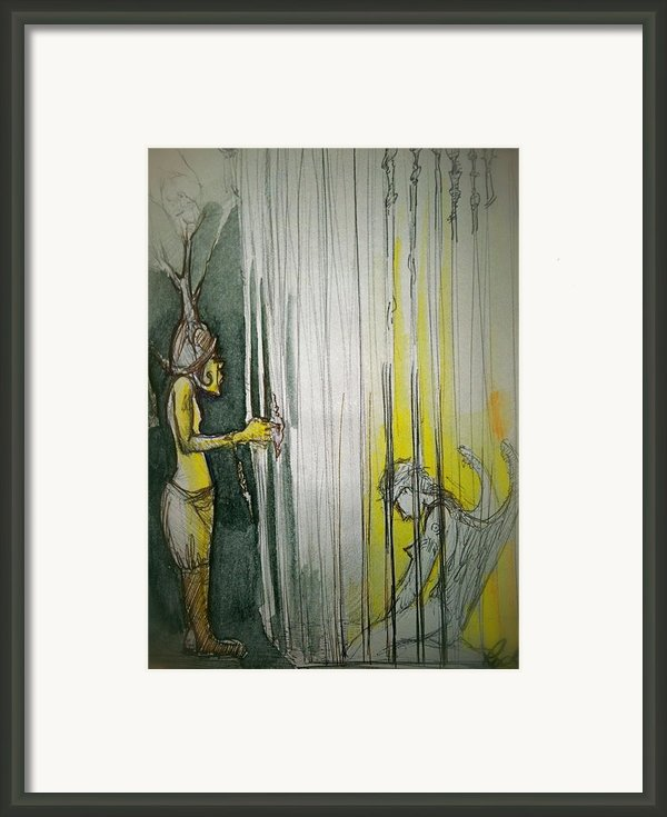 Caged Creature Of God Framed Print By Jackie Rock