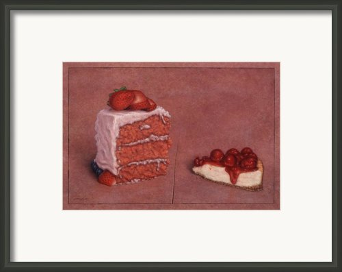 Cakefrontation Framed Print By James W Johnson