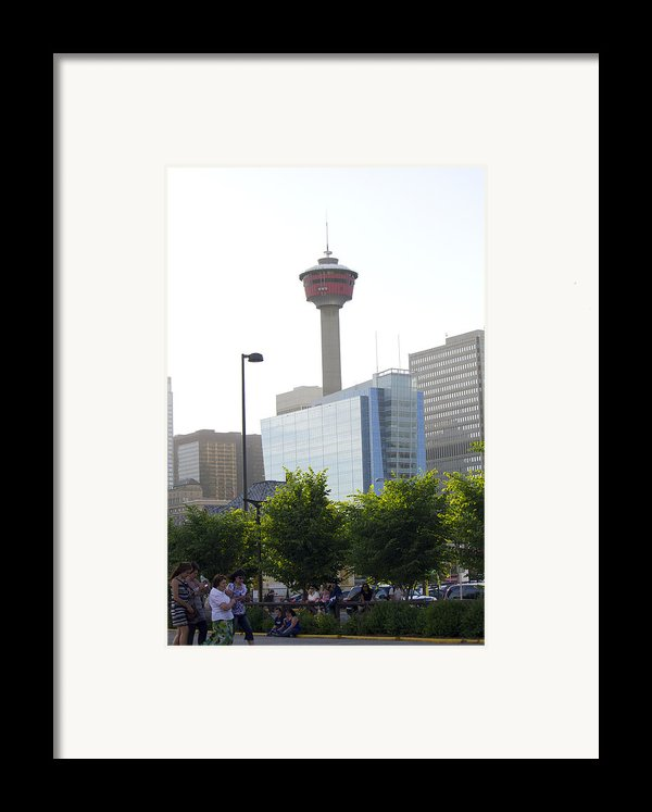 Calgary Tower View 2 Framed Print By Donna Munro