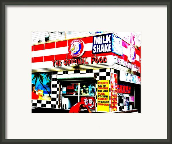 Califorinia Burger Joint  Framed Print By Funkpix Photo Hunter
