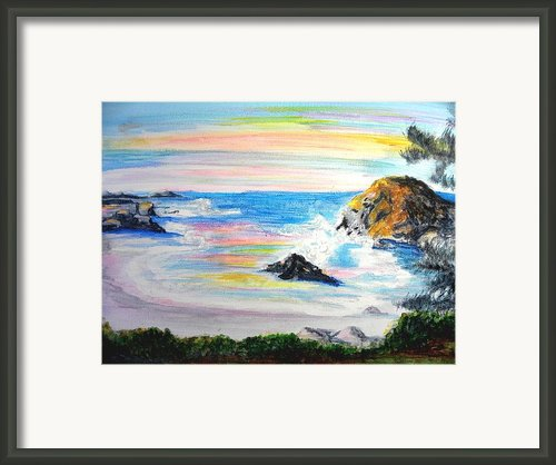 California Coast Framed Print By Susan  Clark