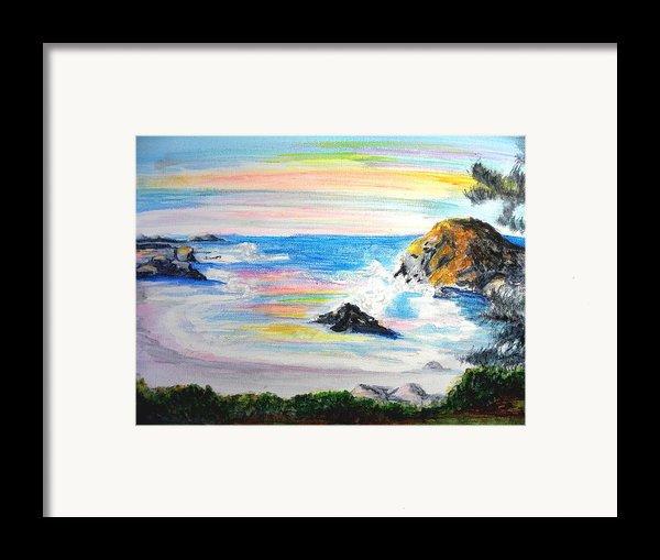 California Coast Framed Print By Susan  Clark