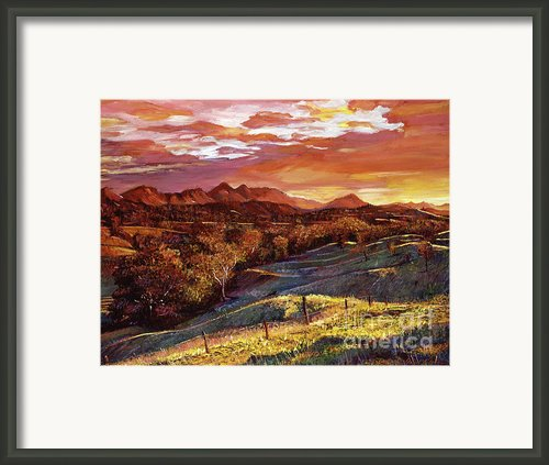 California Dreaming Framed Print By David Lloyd Glover