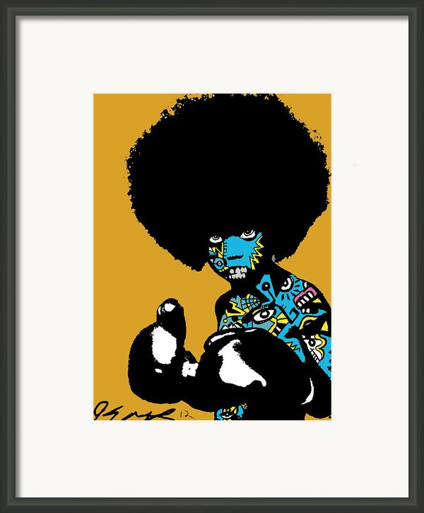 Call Of The Child Full Color Framed Print By Kamoni Khem