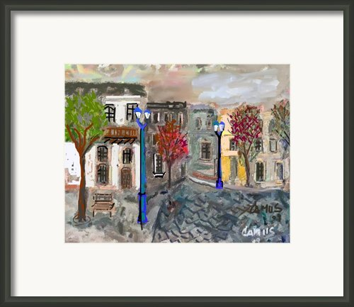 Calle Chile Framed Print By Carlos Camus