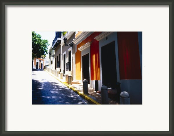Calle Del Sol Old San Juan Puerto Rico Framed Print By George Oze