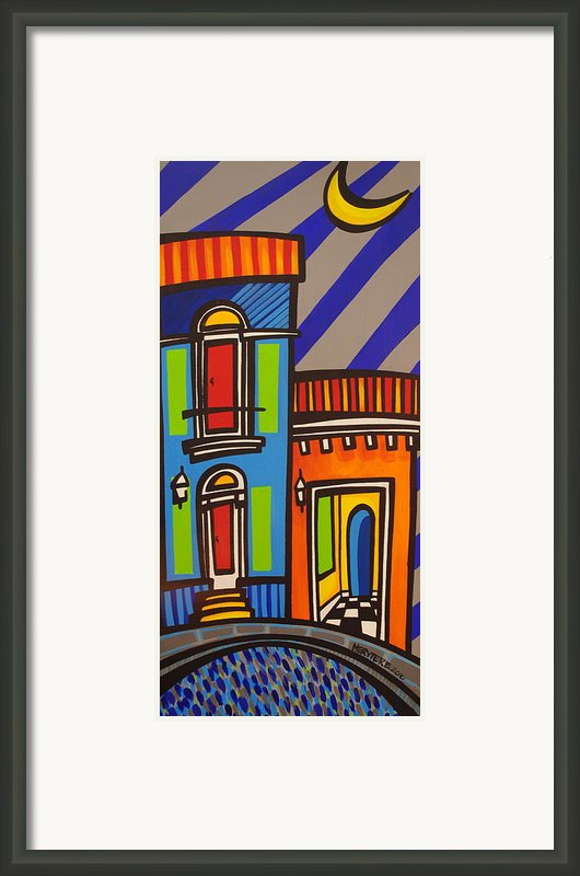 Calle Luna Framed Print By Mary Tere Perez