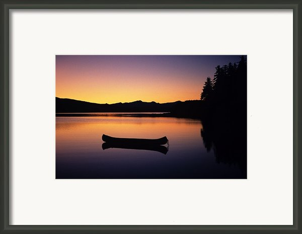Calming Canoe Framed Print By John Hyde - Printscapes