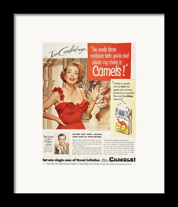 Camel Cigarette Ad, 1951 Framed Print By Granger