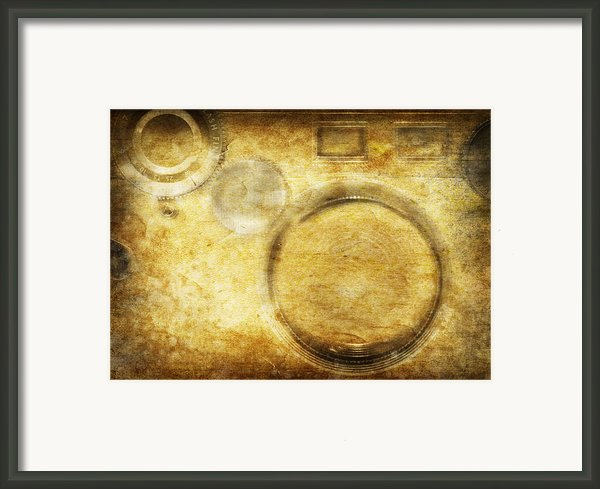 Camera Pattern On Old Grunge Paper Framed Print By Setsiri Silapasuwanchai