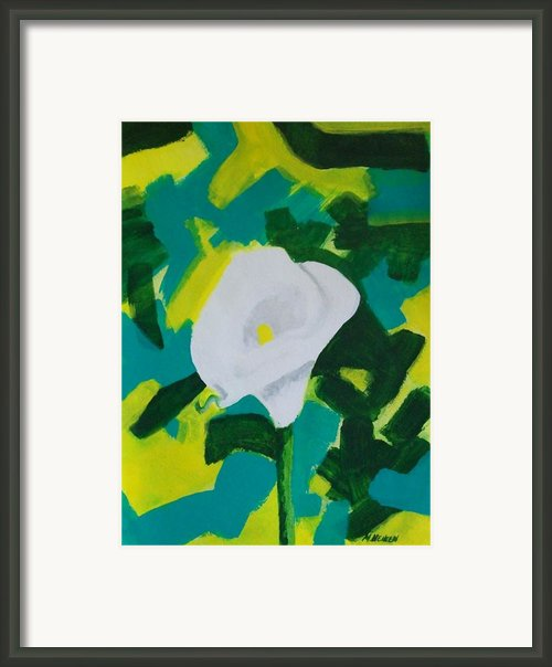 Camo Calla Lilly Framed Print By Marsha Heiken