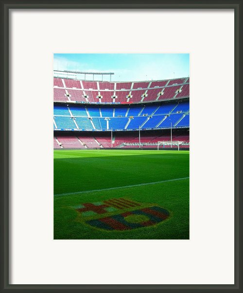 Camp Nou - Barcelona Framed Print By Juergen Weiss