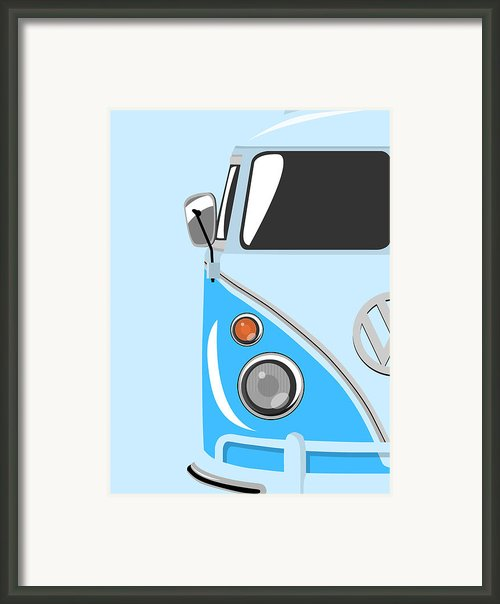 Camper Blue Framed Print By Michael Tompsett