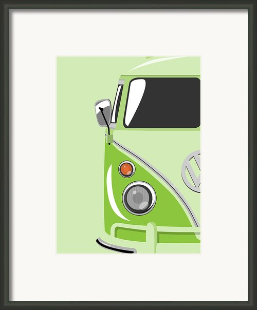 Camper Green Framed Print By Michael Tompsett