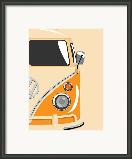Camper Orange 2 Framed Print By Michael Tompsett