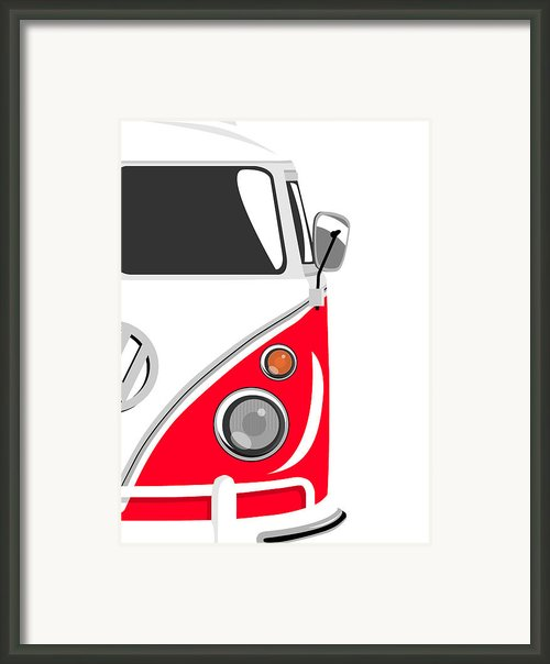 Camper Red 2 Framed Print By Michael Tompsett