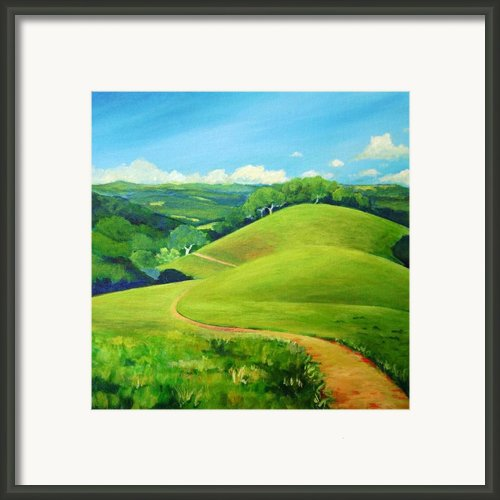 Canada Del Oro Ridge Framed Print By Stephanie  Maclean