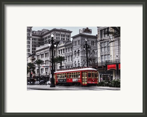 Canal Street Trolley Framed Print By Tammy Wetzel