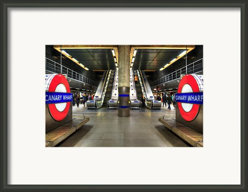 Canary Wharf Station Framed Print By Svetlana Sewell