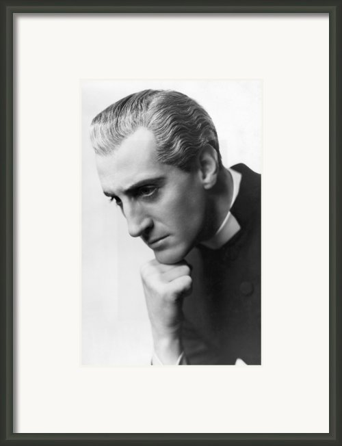 Candida, Basil Rathbone, Biltmore Framed Print By Everett