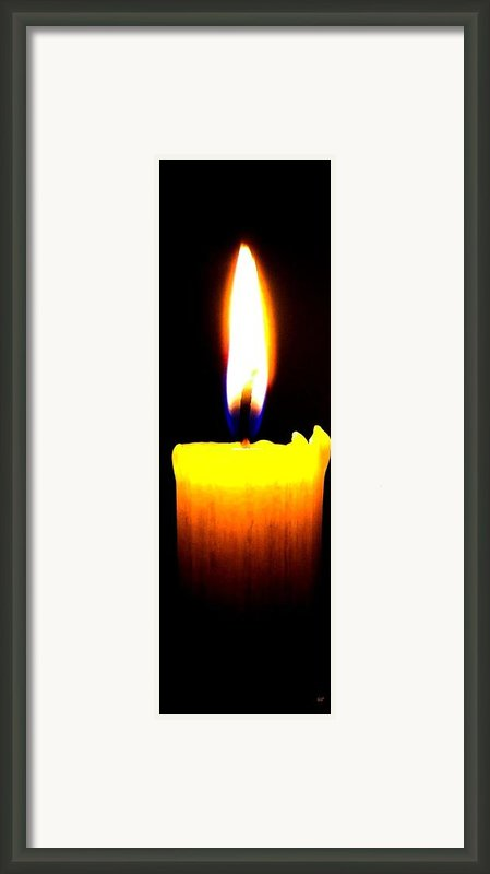 Candle Power Framed Print By Will Borden