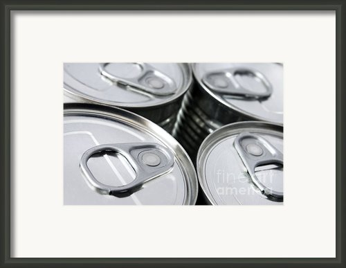 Canned Food Framed Print By Carlos Caetano