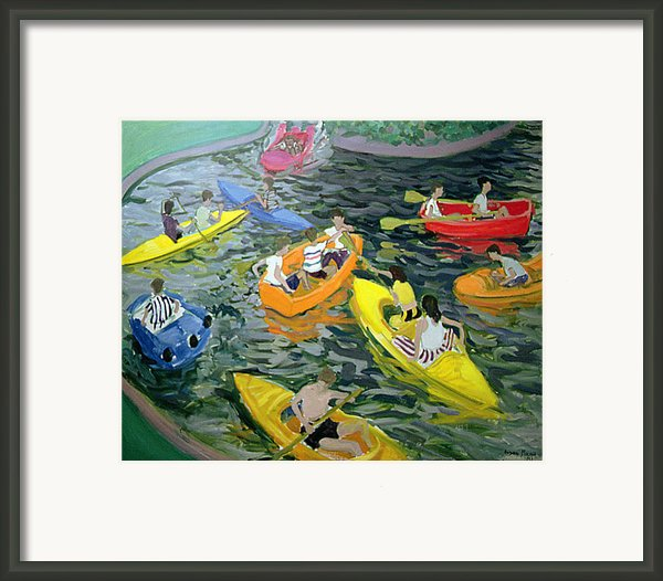 Canoes Framed Print By Andrew Macara