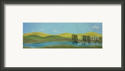 Canola Country Framed Print By Estephy Sabin Figueroa