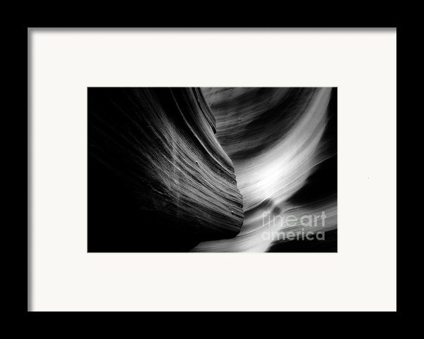 Canyon Curves In Black And White Framed Print By Christine Till