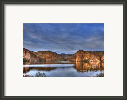 Canyon Lake Framed Print By Christopher Williams