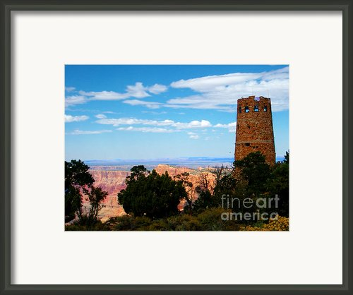 Canyon Look Out Framed Print By The Kepharts