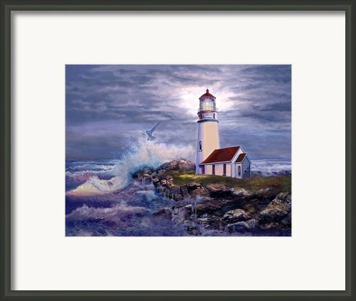 Cape Blanco Oregon Lighthouse On Rocky Shores Framed Print By Gina Femrite