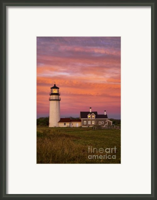 Cape Cod Light Truro Framed Print By John Greim