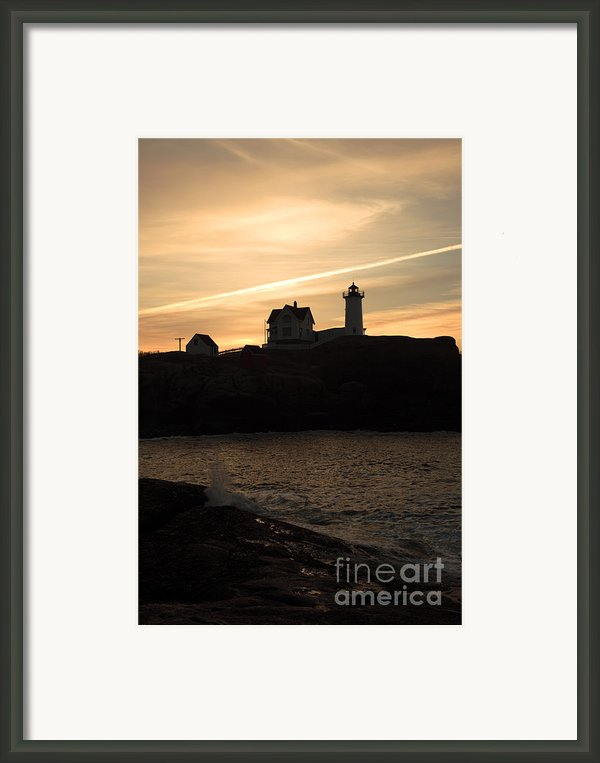 Cape Neddick Light - York  Maine Framed Print By Erin Paul Donovan