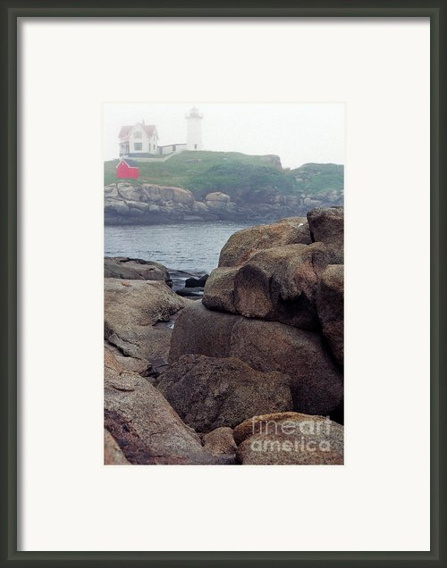 Cape Neddick Lighthouse York Maine Framed Print By Thomas R Fletcher