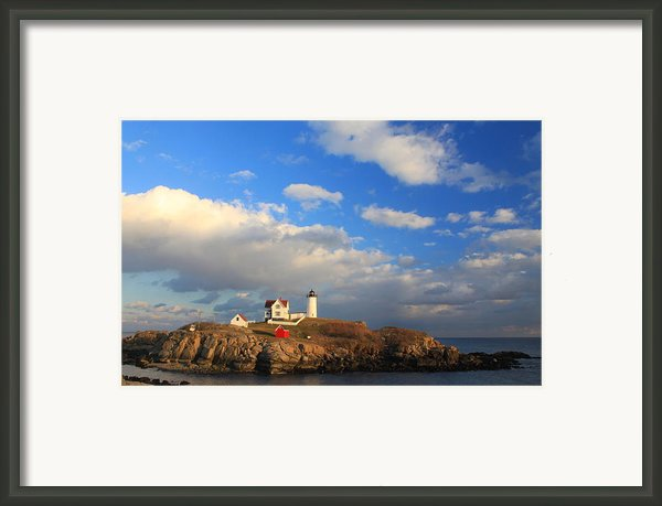 Cape Neddick Nubble Lighthouse Maine Framed Print By John Burk