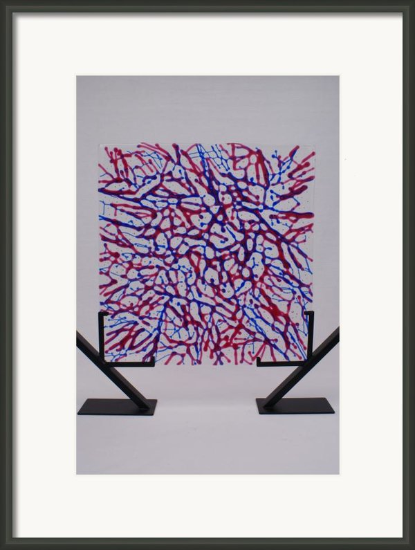 Capillaries Framed Print By Louis Copper