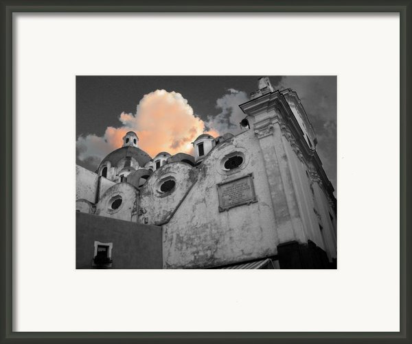 Capri Church Framed Print By Jim Wright