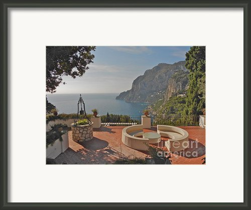 Capri Panorama Framed Print By Italian Art- Angelica