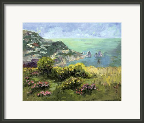 Capri Framed Print By Sharon Mason