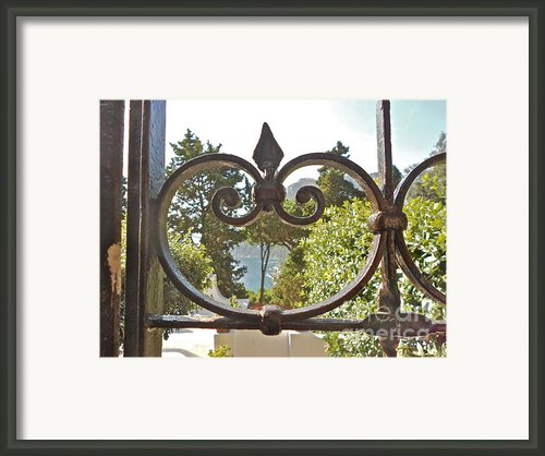 Capri Through Gate Framed Print By Italian Art