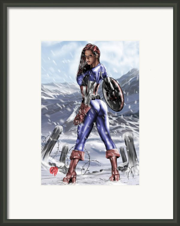 Captain America Framed Print By Pete Tapang