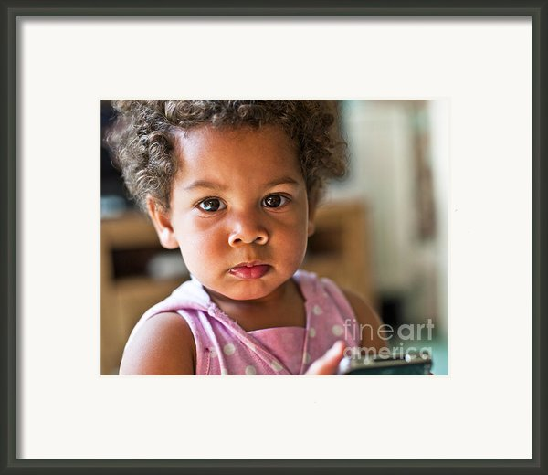 Captivating Eyes Framed Print By Donald Davis