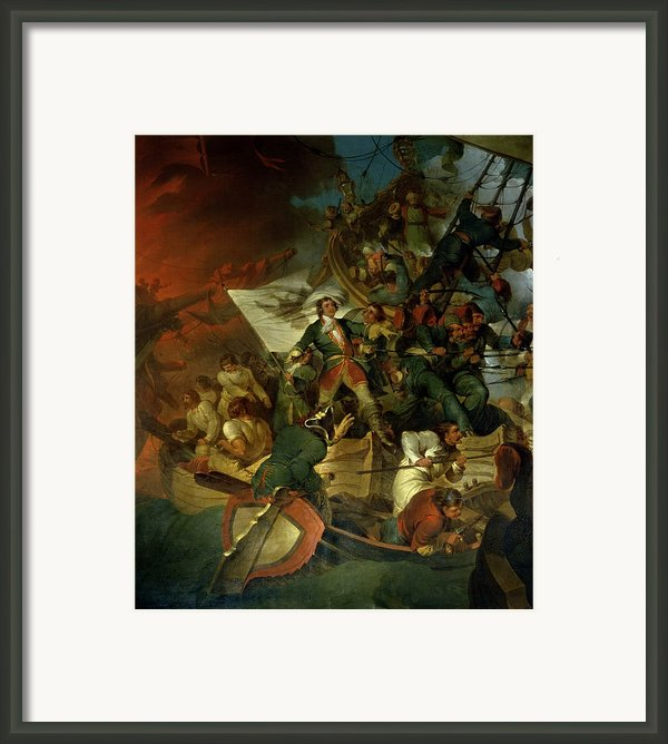 Capture Of Azov Framed Print By Sir Robert Kerr Porter