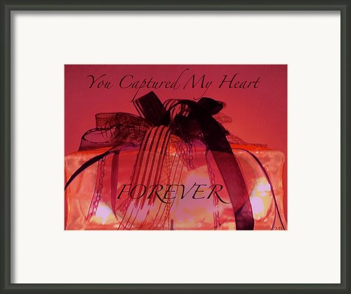 Captured My Heart Card Framed Print By Debra     Vatalaro