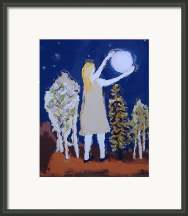 Capturing The Moon Framed Print By Yulonda Rios